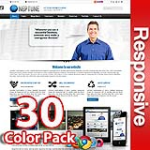 Neptune 30 Colors Pack - Responsive Skin - Bootstrap - 6 Free Modules - Business / Corporate Skin